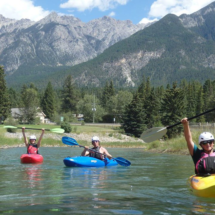 Whitewater kayak lesson Fairmont Hot Springs